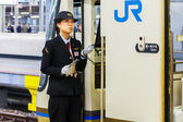 Train Conductor in Kobe — Stock Photo
