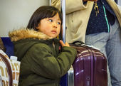 Japanese Girl on a Train — Stock Photo