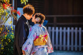 Japanese Groom and Bride in Kyoto — Foto Stock