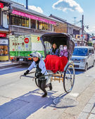 Rickshaw in Kyoto — Stock Photo