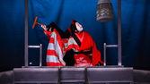 Kyoto, Japan - November 18 2013: Bunraku (puppet play) developed — Stock Photo