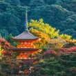 Three-storied pagoda at Taisan-ji Temple nearby Kiyomizu-dera Temple in Kyoto — Stock Photo #41663931