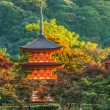 Three-storied pagoda at Taisan-ji Temple nearby Kiyomizu-dera Temple in Kyoto — Stock Photo #41742677