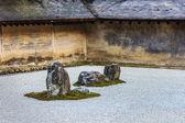 A Zen Rock Garden in Ryoanji Temple in Kyoto — Stockfoto