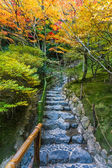 Chisen-kaiyushiki, Pond-stroll garden in Ginkaku-ji temple in Kyoto — Stock Photo