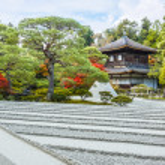 Ginkaku-ji - The Silver Pavilion Temple in Kyoto — Stock Photo #42826189