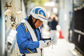 Security Guard in Kyoto — Stock Photo