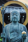 Bronze Buddha Statue in front of Daiun-in Temple in Kyoto — Stock Photo