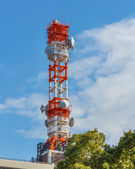 Mobile telephone radio tower — Stock Photo