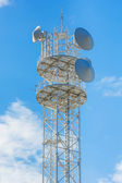 Mobile telephone radio tower — 图库照片