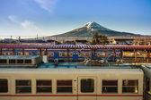 Mt. Fuji From Kawaguchiko Station — Stock Photo