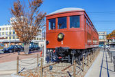 An old Carnergie train at Kawaguchiko Station — Stock Photo