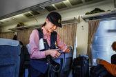 Japanese Train steward — Stock Photo