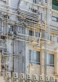 Industrial pipe lines on a Building — Stock Photo