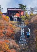 Ropeway at Lake Kawaguchi — Stock Photo