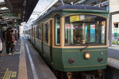 Enoden Line in Kamakura, Japan — Stock Photo