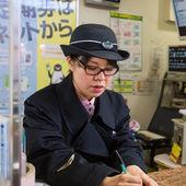 Train Conductor in Tokyo — Stock Photo