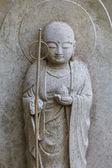 Small Jizo Statues at Hase-dera Temple in Kamakura — Stock Photo