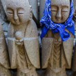 Small Jizo Statues at Hase-dera Temple in Kamakura — Stock Photo #46647641