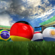 3D rendering of Germany football team in the year 2014 in a foot — Stock Photo #49687879