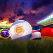 3D rendering of Argentina football team in the year 2014 in a fo — Stock Photo #49688115