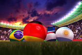 3D rendering of Germany football team in the year 2014 in a foot — Stock fotografie