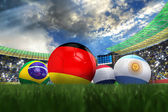 3D rendering of Germany football team in the year 2014 in a foot — ストック写真