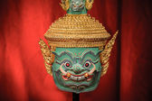 Hua Khon (Thai Traditional Mask) Used in Khon - Thai traditional dance of the Ramayana Epic Saga — Stockfoto