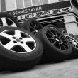 A Group Of New Tyres — Stock Photo #20027445