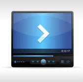 Vector Video Player Skin — Stock Vector