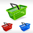 Stok Vektör: Vector shopping basket