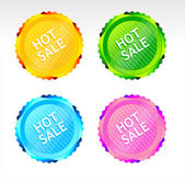 Vector Hot Sale signs — Stock Vector