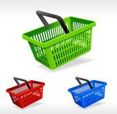 Vector shopping basket — Stock Vector