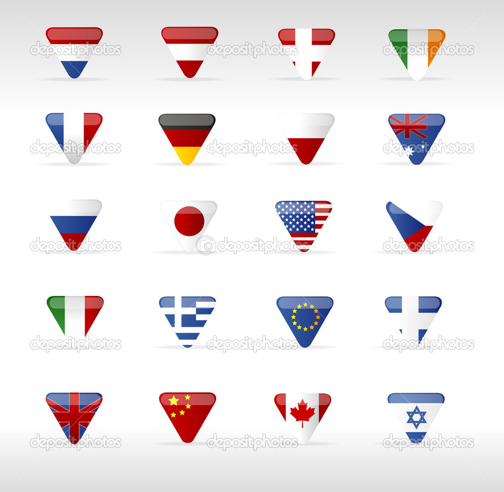 矢量世界标志三角形箭头