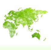 векторная карта мира изолированные — Cтоковый вектор
