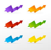 Set of colorful arrow — Stock Vector
