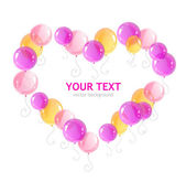 Vector heart ballons and text — Stockvektor