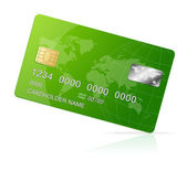 Credit Card green icon Isolated on white — Stock Vector