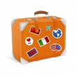 Vector illustration of vintage suitcase isolated on white — Stock Vector #21350967
