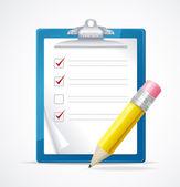 Ilustração em vetor de lista de verificação — Vetor de Stock
