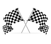 Vector Racing flags — Stock Vector