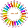 Vector rainbow pencils frame — Stock Vector #23627397