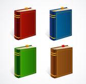 Vector old book icon set — Vecteur