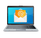 Laptop and mail. Vector. — Stock Vector