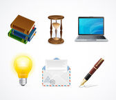 Business icons set. Vector — Stock Vector