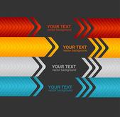 Arrow speech templates for text — Stock Vector