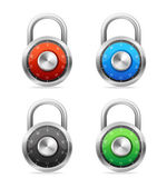 Security Concept. Vector padlock set — Stock Vector