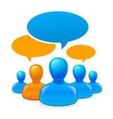 Lidé komunikovat — Stock vektor