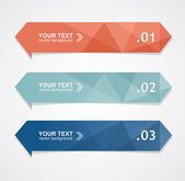 Vector colorful text box — Stock Vector