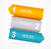 Vector colorful text box 1,2,3 concept — Stockvector
